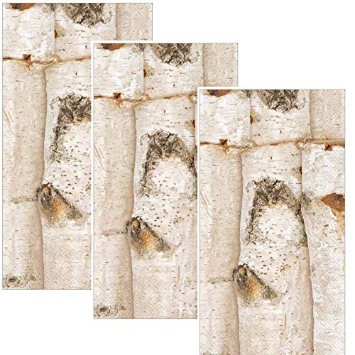 Birch Tree Guest Towels Dinner Buffet 32 total Paper Napkins Cabin Cottage Decor