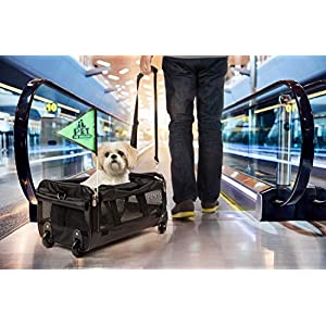Sherpa on Wheels Pet Carrier, Black 22