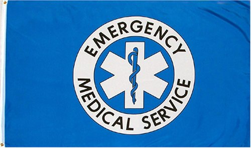 amazoncom emergency medical service flag 3x5 new 3 x 5 ems flag outdoor flags garden outdoor