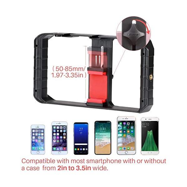 ULANZI u-rig Pro smartphone video Rig palmare iPhone Filmmaking gabbia con 3 Cold Shoe Mount Phone video stabilizzatore per video proiettore Videomaker per iphone 11 pro max x 8 7 Plus Samsung Xiaomi 5 spesavip