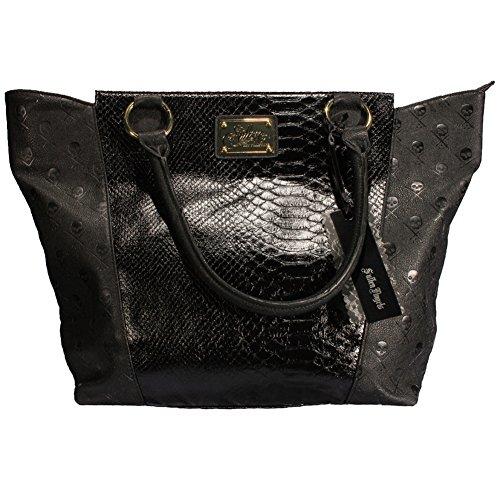 Women's Sullen Snake Skin Icon Handbag Black