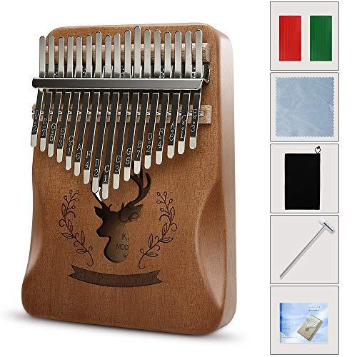 EXTSUD 엄지 피아노 칼림바 17키 초심자 입문 악기 (포함 : 가이드, 톤 해머, 손가락 슬리브, 수납 가방 )
