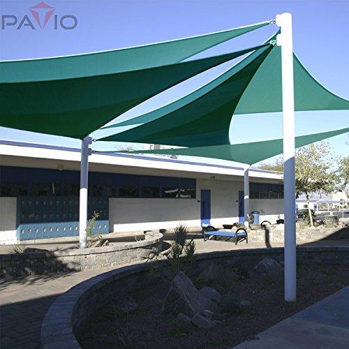Patio Paradise 20 X 20 X 20 Turquoise Green Sun Shade