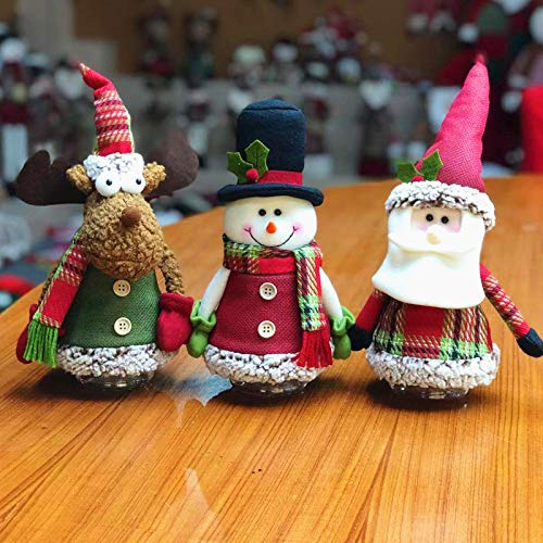 Sepanda Christmas Decor Dolls, 3pcs Holiday Ornaments Plush Standing Toys Santa Claus Snowman Reindeer, Great for Table Fireplace Indoor Home Decoration Xmas Party Gift Idea-2019 New Edition (Table 2019 Christmas Decorations For)