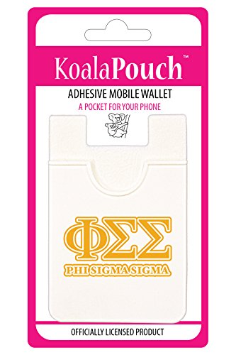 Phi Sigma Sigma (Yellow) - Koala Pouch - Adhesive cell phone wallet