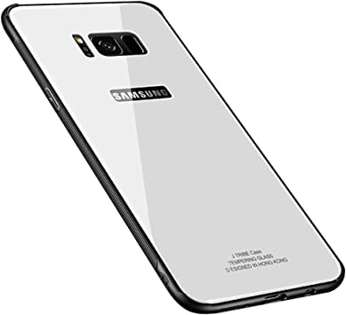 Samsung Galaxy S8 Plus Tempered Glass Case, [Drop Protection ...