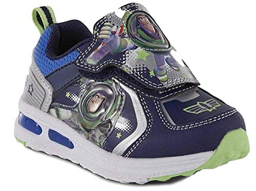 Toddler Boys' Toy Story Buzz Lightyear Light-Up Sneaker Shoes (11) Blue