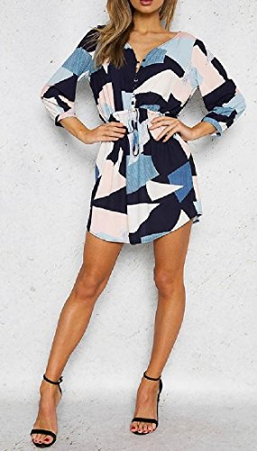 Picture Dresses Geometric Sleeve As Long Printed Coolred Women Shapes Retro qx0UPzA7