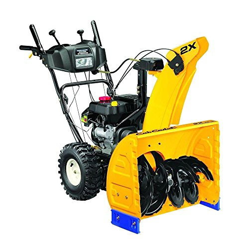Gas Snow Blower Two-Stage Electric Start 24 in. with Steel Chute and Heavy-Duty Gear Box, Black/Yellow by CUB CADET