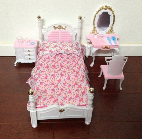 My Fancy Life Barbie Size Dollhouse Furniture, Bed Room and Beauty Play Set