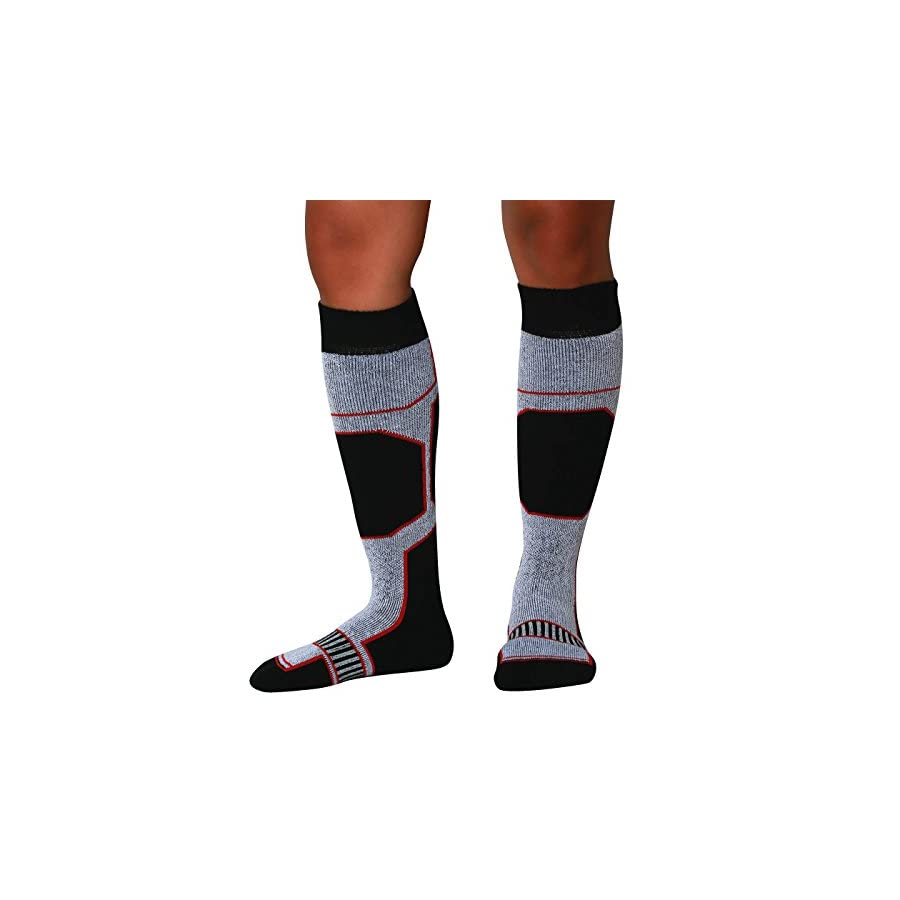 PureAthlete Snowboard Socks Comfortable Warm Skiing Snowboarding Sock for Men and Women