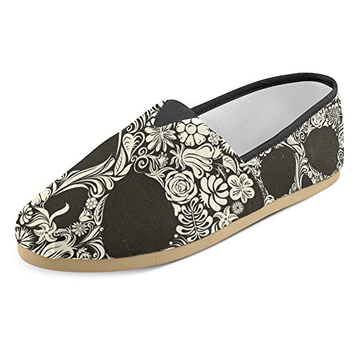InterestPrint Womens Loafers Classic Casual Canvas Slip On Fashion Shoes Sneakers Flats Multi 7