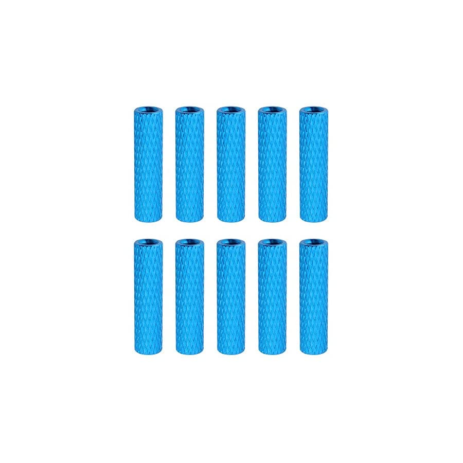 10-Pack HobbyPark Aluminum M3x20mm Standoff Spacer Female-Female Round Column for RC Quadcopter Accessories Blue