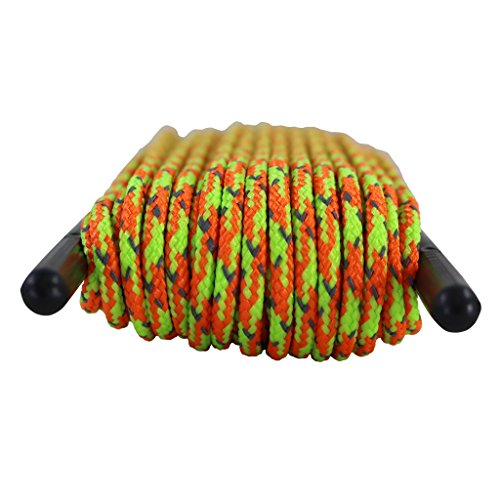 SGT KNOTS Hi Visibility Polyester Reflective Cord / Low Stretch / Twice as many reflective tracers