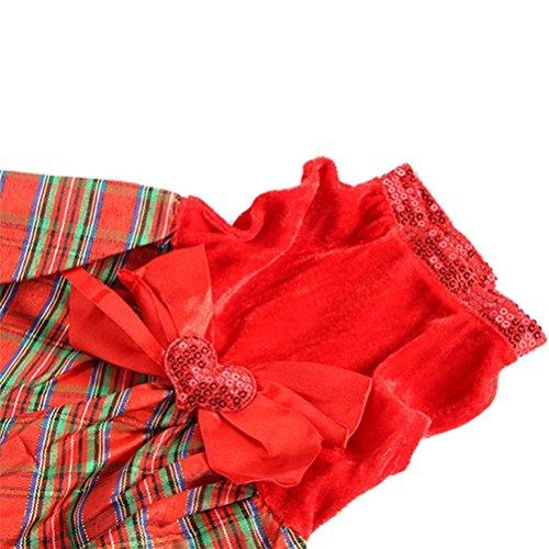 Dog Fancy Dress Costumes Christmas (Elaco Christmas Dog Clothes Santa Doggy Costumes Clothing Pet Dress Apparel New Design (Red, M))