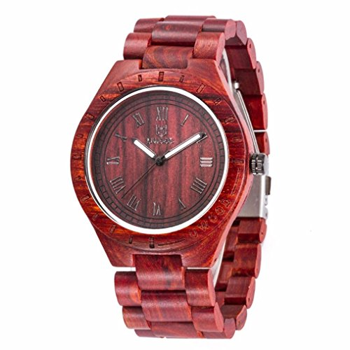 Uwood Luxury Brand Zebra Men's Sandal Wooden Movement Watch Water Resistant Fashion Natural Wood Watch,No Bamboo - Versace Zebra