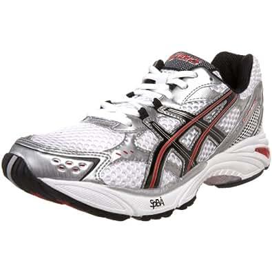 ASICS Men's GEL-Fortitude 4 Running Shoe,White/Black/Lightning,7.5 4E US