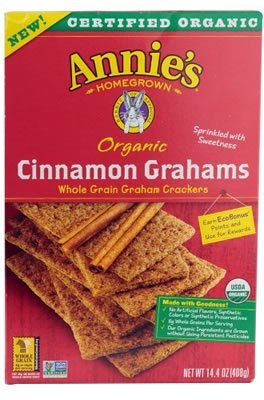 Annie's Homegrown Crackers Organic Cinnamon Graham 14.40 Ounces (Case of 12)