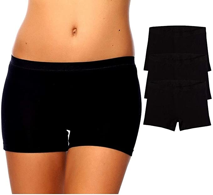6 Boxer Tight Fit Boxer Seamless Cotton Black without Seams Shorts