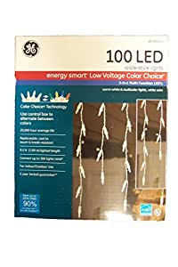 GE Icicle Style Lights with COLOR CHOICE Technology - 100 LED Warm White OR Multicolored Lights with White Wire