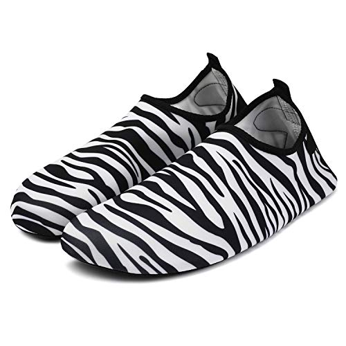 Women Zebra Shoes Men and Shoes Water Barefoot Socks Dry for Bridawn Quick stripe qtPwFOxZO5