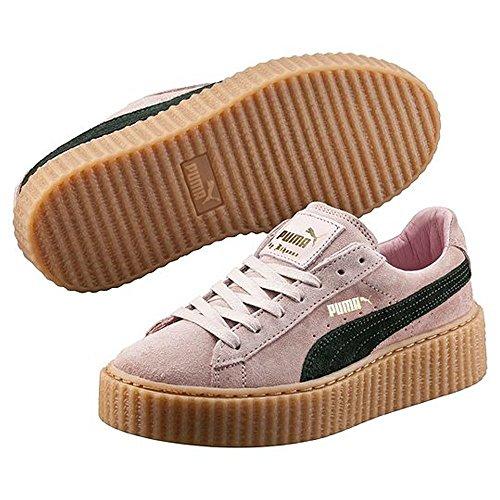 Zapatillas (Talla 37.5) Puma Fenty by Rihanna Creeper Color Rosa Coral con Raya Verde Ultramarino y Suela de Goma: Amazon.es: Zapatos y complementos