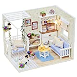 DIY Wooden Dolls House, Morwind DIY 3D Dollhouse Paper Miniature Furniture Kit LED Light Dollhouse Kids Grils Gift ,Cardboard Dolls House