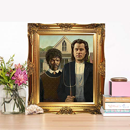 - In With The Old Vincent Vega & Jules Winnfield - Limited Poster Artwork - Professional Wall Art Merchandise - Pulp Fiction, Movie, Quentin Tarantino