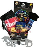 Graduation Gift! - Snacks - Gifts - Great Gift Basket for Wishing a Happy Graduation! (Fun Grad Basket - Button)
