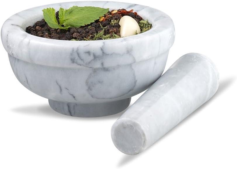 Sagler mortar and pestle, 4.5, marble
