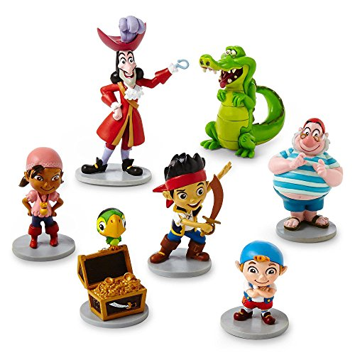 Disney Parks Jake Neverland Pirates Figurine Playset Play Set Cake Topper (Jake The Neverland Pirate Party Supplies)