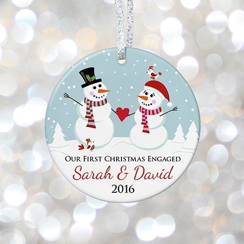 our first christmas engaged ornament personalized engagement ornament 1st engaged christmas gift 3quot