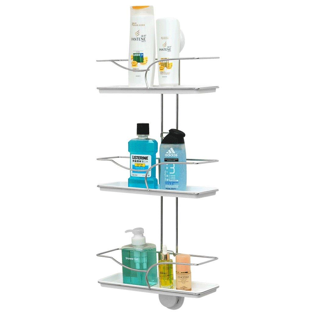 HY Powerful Suction Cup Bathroom Shelf Bathroom Supplies Storage Rack Wall Hanging Three-tier Rack