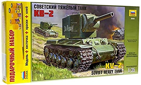 ZVEZDA 3608-P Carro de Combate Ruso KV-2 (Juego de Regalo ...