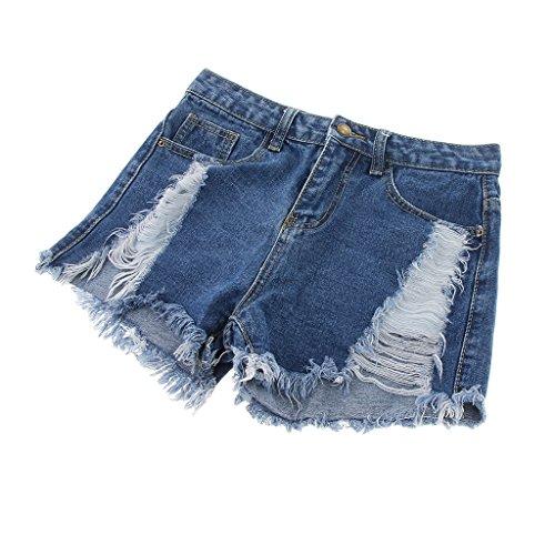 Blu Fit Jeans Magideal Elasticizzati Fit Donna Classici Di Da Pantaloncini scuro xwnzTqHzF