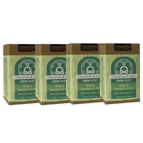 Green Goo Cinnamon Aloe Hand Scrub Mighty Handscrub (4 Piece), 14 Ounce 4 Piece Frosty Bath