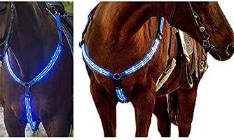 Kappha Arnés para Caballos LED Arnés para el Pecho LED Ajustable ...