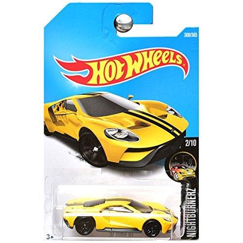 - Hot Wheels 2017 Nightburnerz '17 Ford GT 308/365, Yellow