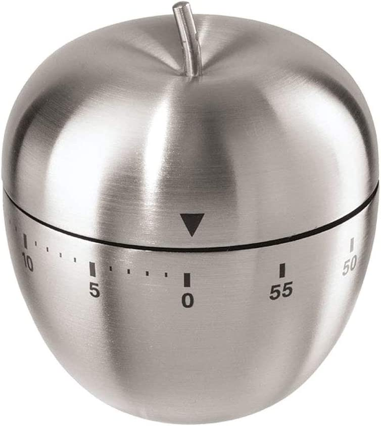 Qualizon Kitchen Timer Cooking Clock with Loud Alarm No Battery Required 100% Mechanical Timer Manual(Apple)