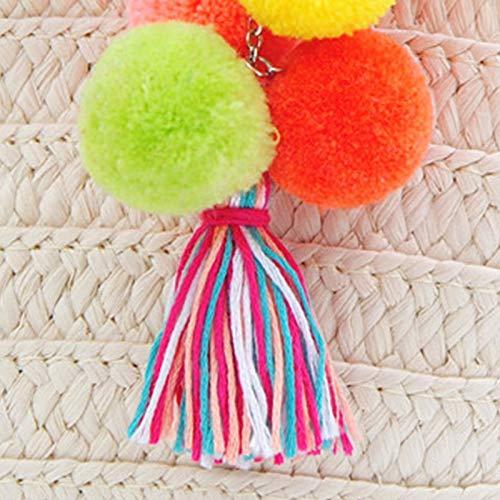 Jingyuu Porte Clef Pompon Porte Cl/é Femme Pompon Style National Porte-cl/és Voiture Cl/és Couleur Keychain T/él/éphone Sac Pendentif Porte Clef