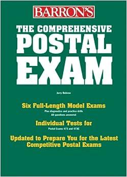 \UPD\ The Comprehensive Postal Exam For 473/473-C (Barron's Comprehensive Postal Exam). Estado Killed chorro Jones portero apenas