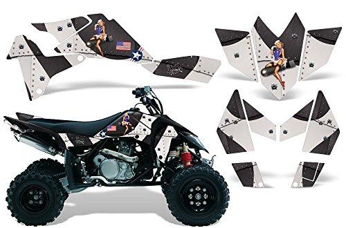 One Industries Suzuki Graphics (2006-2009 Suzuki LTR 450 AMRRACING ATV Graphics Decal Kit:T-Bomber-Black)