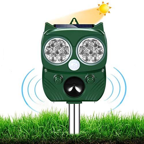 AILEDA Repellente Gatti, Repellente Ultrasuoni Energia Solare IP66 Impermeabile a Frequenza Regolabile per Allontanare…