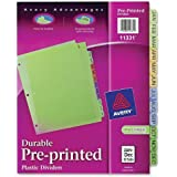 Avery Plastic Preprinted Tab Dividers, 8.5 x 11 Inch, Jan-Dec Tab, Multi-Color Tab, 1 Set (11331)