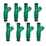 Carrep Set of 8 Fuel Injectors 42lb/hr 440cc/min EV1 Fit Bosch Chevrolet Pontiac Ford TBI LT1