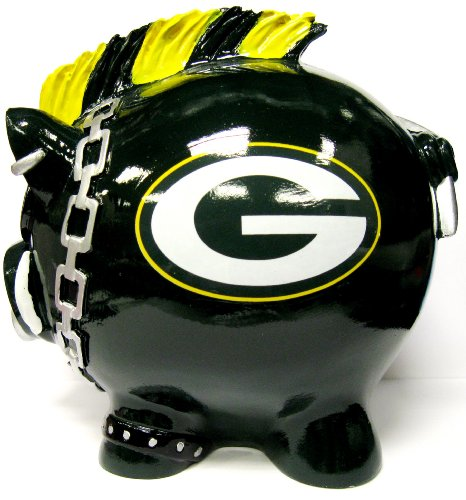 Green Bay Packers Large Mohawk Piggy Bank