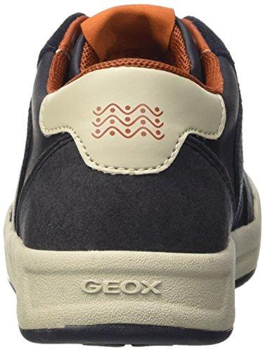 Geox J Rolk Boy B, Zapatillas Para Niños Blau (NAVYC4002)
