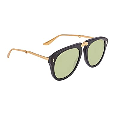 Amazon.com: Gafas de sol Gucci GG 0305 S- 001 negro / verde ...
