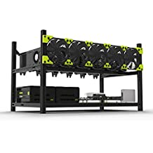 Supercope - 6 GPU Mining Aluminum Case Rig Open Air Frame for Crypto Coin Currency