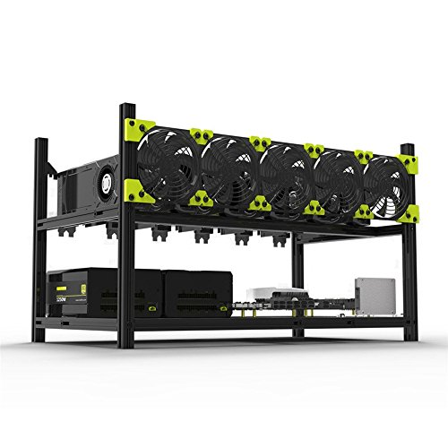 Supercope – 6 GPU Mining Aluminum Case Rig Open Air Frame for Crypto Coin Currency